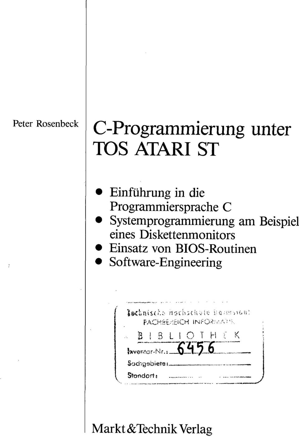 Diskettenmonitors Einsatz von BIOS-Routinen Software-Engineering - B I B L