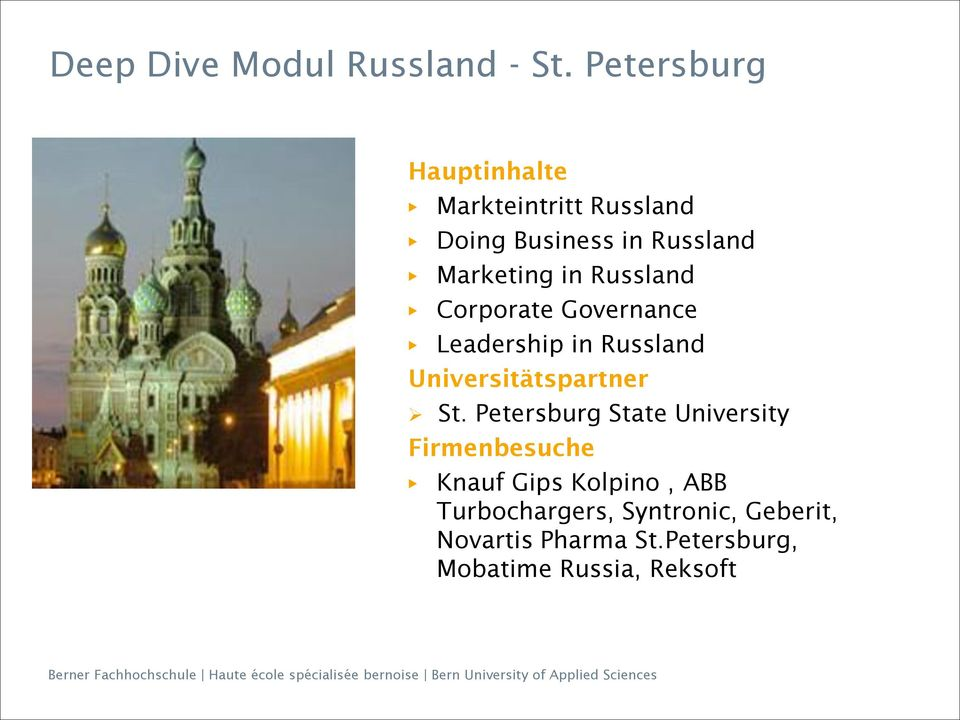 Russland Corporate Governance Leadership in Russland Universitätspartner St.