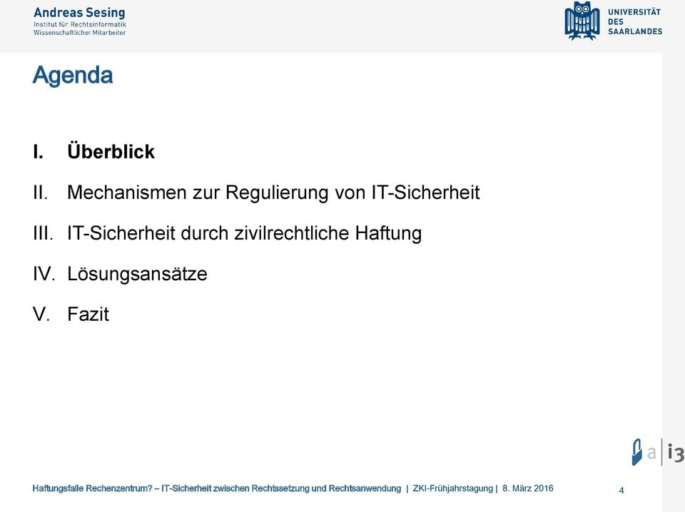 IT-Sicherheit III.