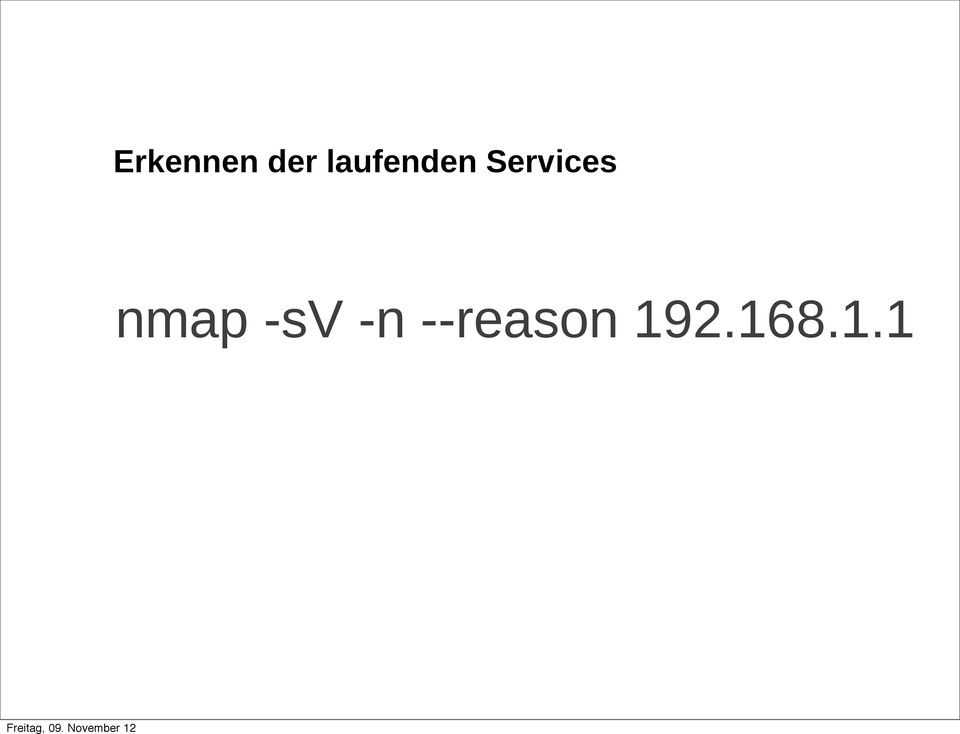 Services nmap