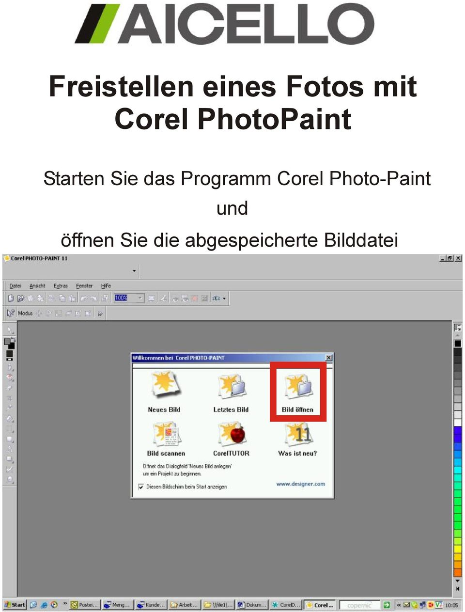 Programm Corel Photo-Paint und