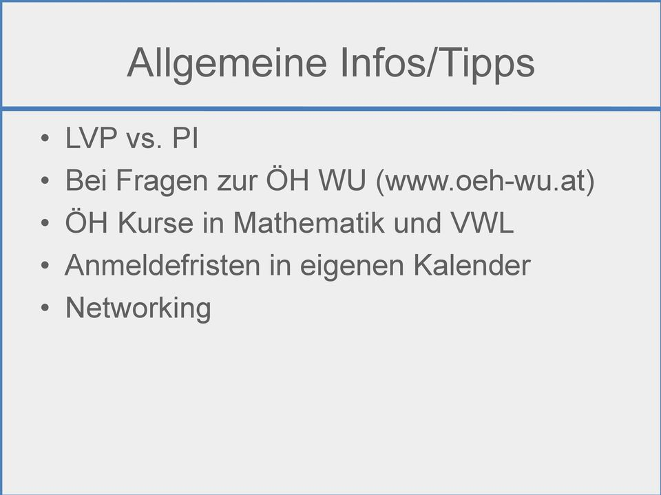 at) ÖH Kurse in Mathematik und VWL