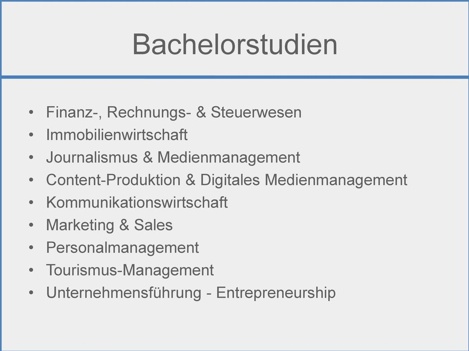 Content-Produktion & Digitales Medienmanagement