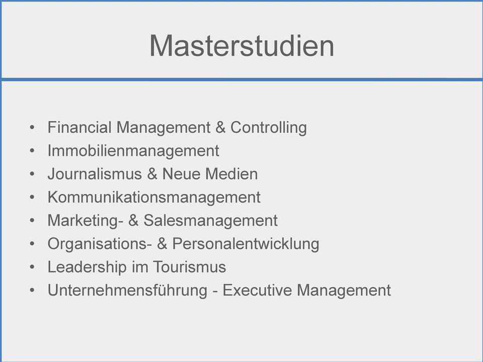 Kommunikationsmanagement Marketing- & Salesmanagement