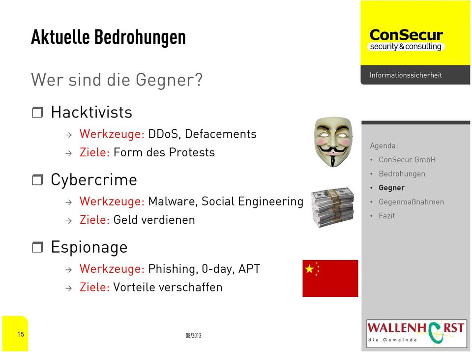 Protests Cybercrime Werkzeuge: Malware, Social Engineering