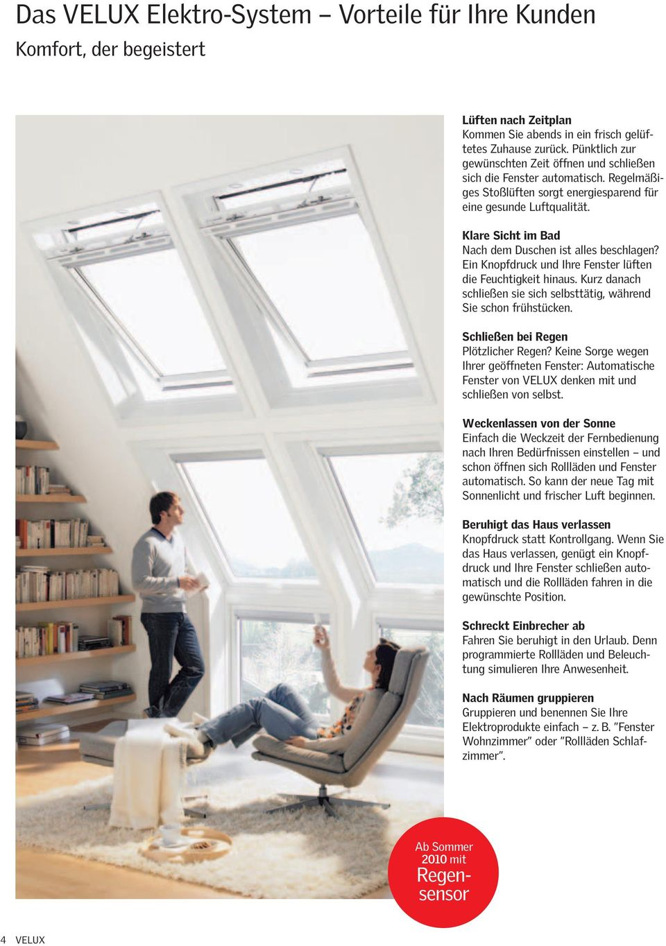 velux elektro system die velux profi brosch re stand pdf. Black Bedroom Furniture Sets. Home Design Ideas