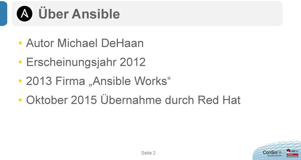 2013 Firma Ansible Works