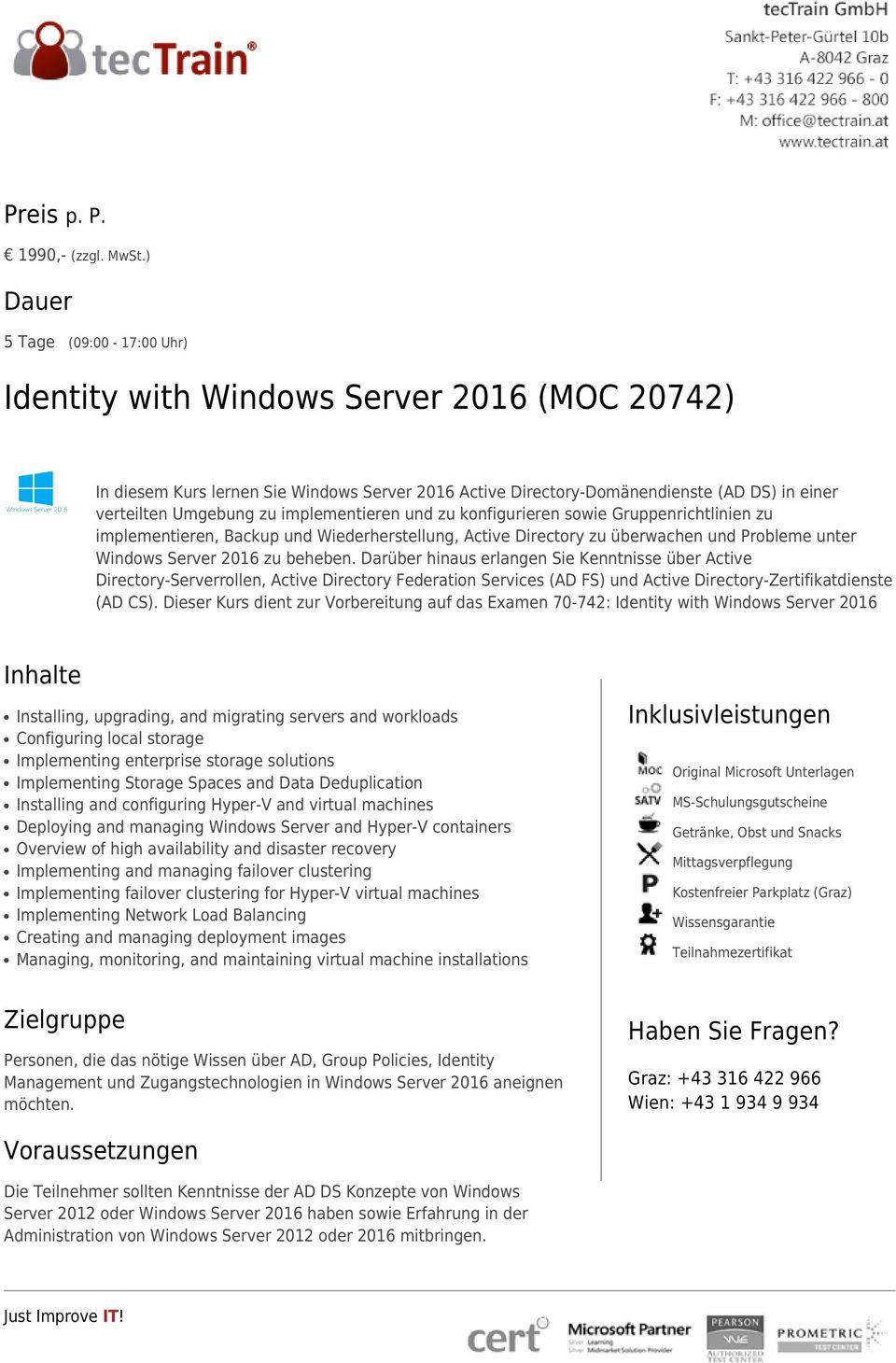 Installation, Storage, and Compute with Windows Server 2016 (MOC ...