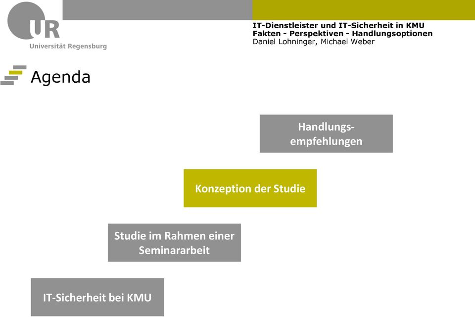 Konzeption der Studie