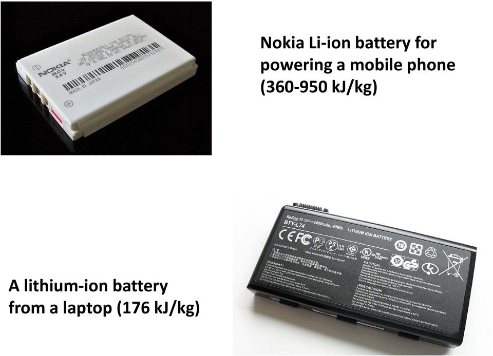 Li ion battery for powering