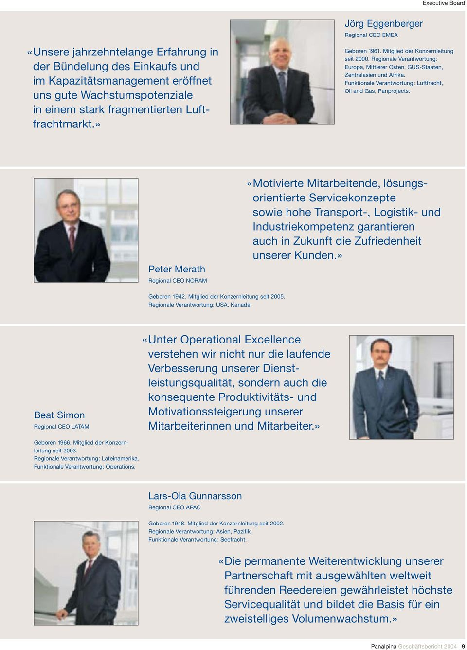 Funktionale Verantwortung: Luftfracht, Oil and Gas, Panprojects.
