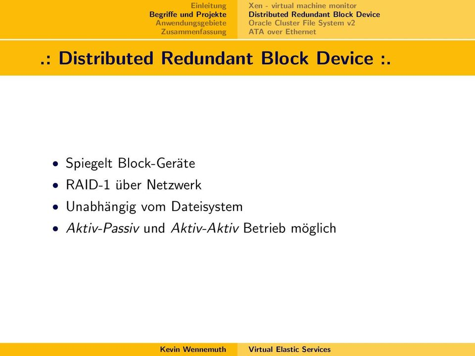 : Distributed Redundant Block Device :.