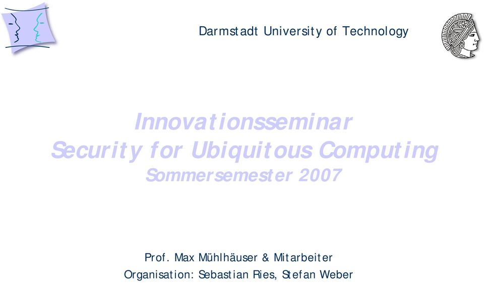 Computing Sommersemester 2007 Prof.