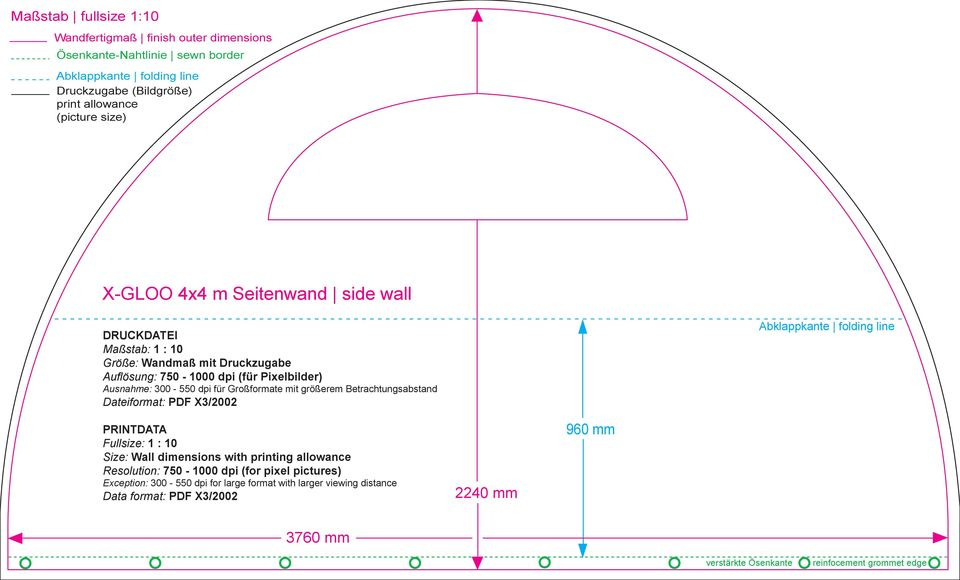 größerem Betrachtungsabstand Dateiformat: PDF X3/22 Abklappkante folding line PRINTDATA Fullsize: 1 : 1 Size: Wall dimensions with printing allowance Resolution: 75-1 dpi
