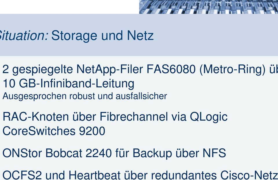 ausfallsicher RAC-Knoten über Fibrechannel via QLogic CoreSwitches 9200