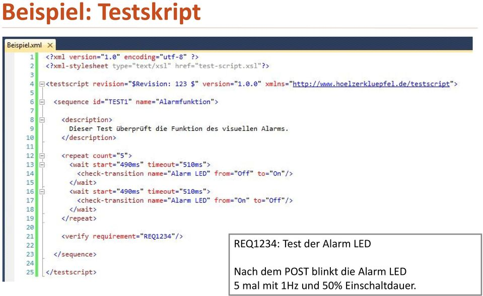 POST blinkt die Alarm LED 5