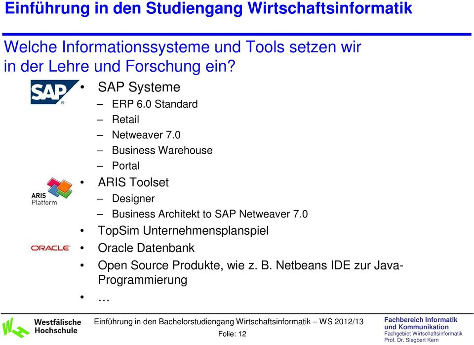 0 Business Warehouse Portal ARIS Toolset Designer Business Architekt to SAP Netweaver