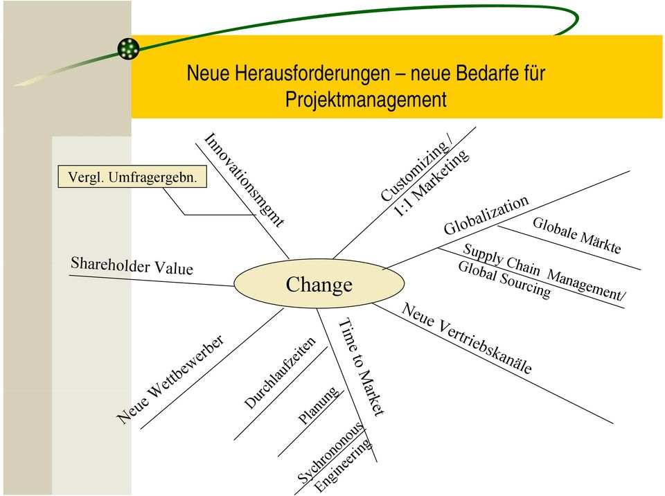 Globale Märkte Shareholder Value Supply Chain Management/ Global Sourcing
