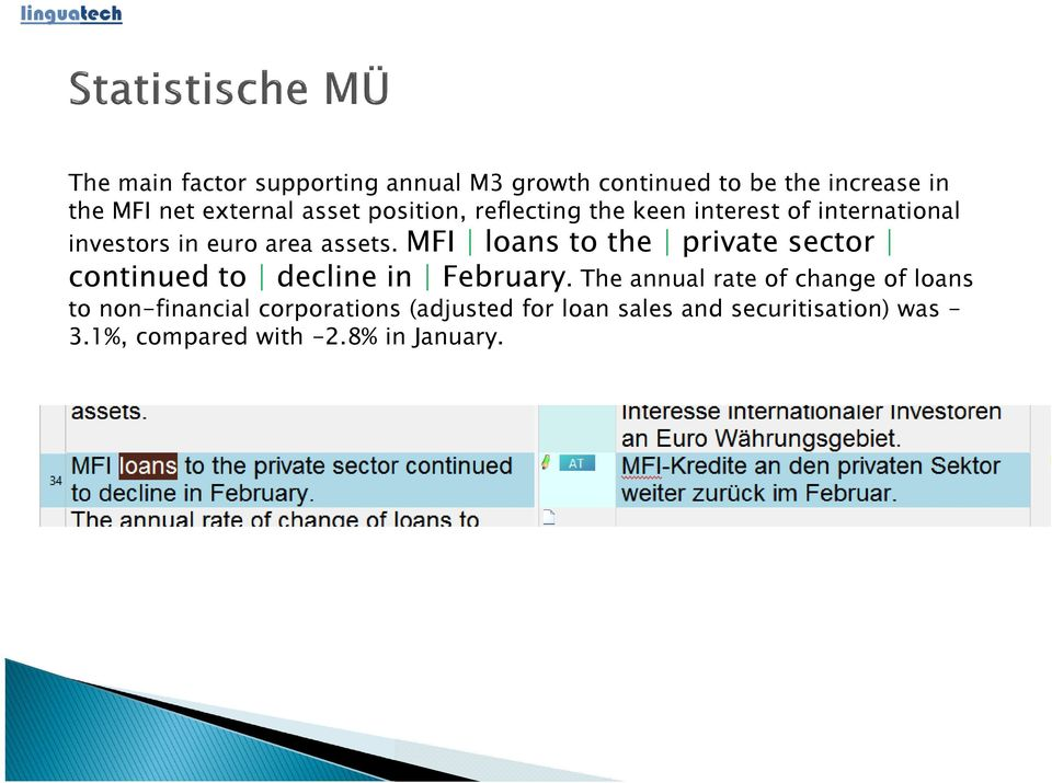 MFI loans to the private sector continued to decline in February.
