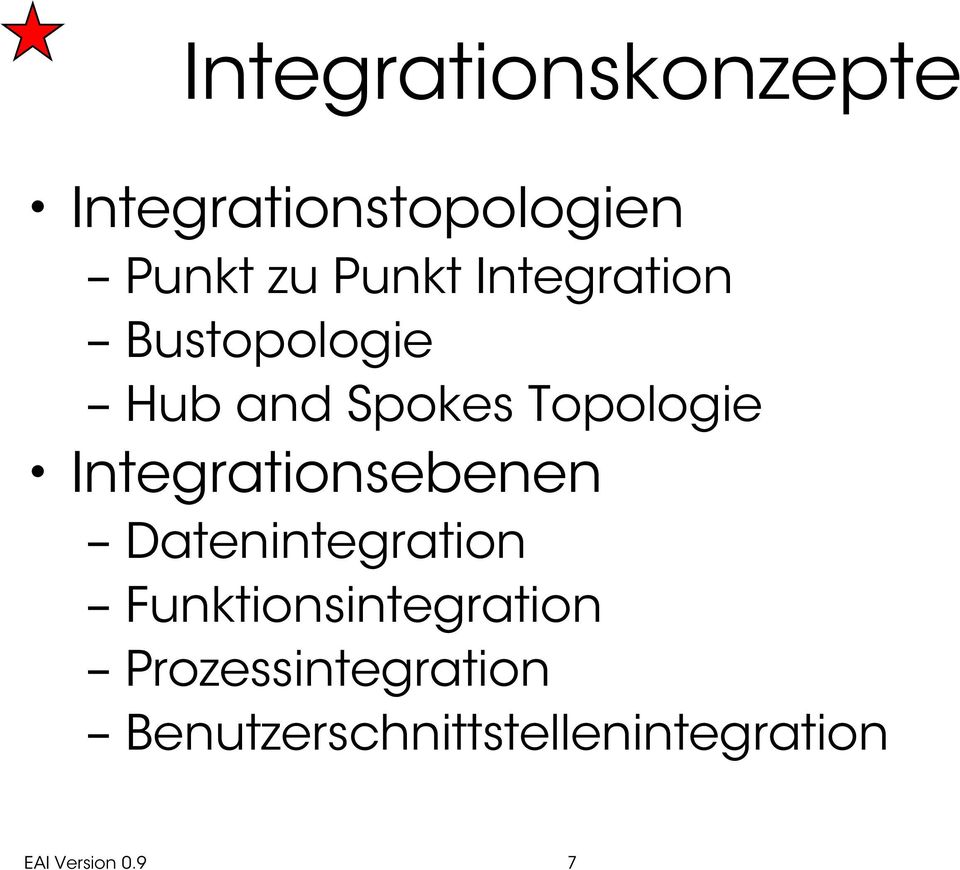 Integrationsebenen Datenintegration Funktionsintegration