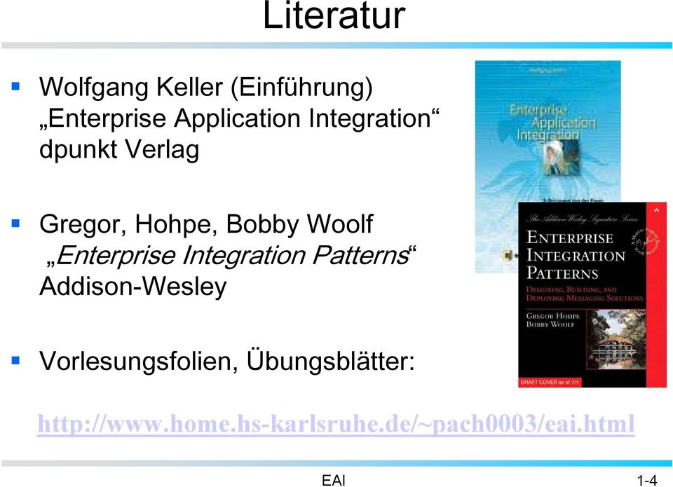 Integration Patterns Addison-Wesley Vorlesungsfolien,