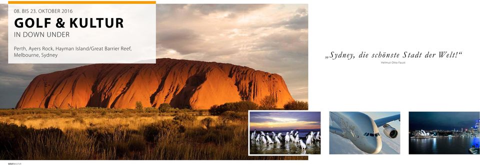 Perth, Ayers Rock, Hayman Island/Great