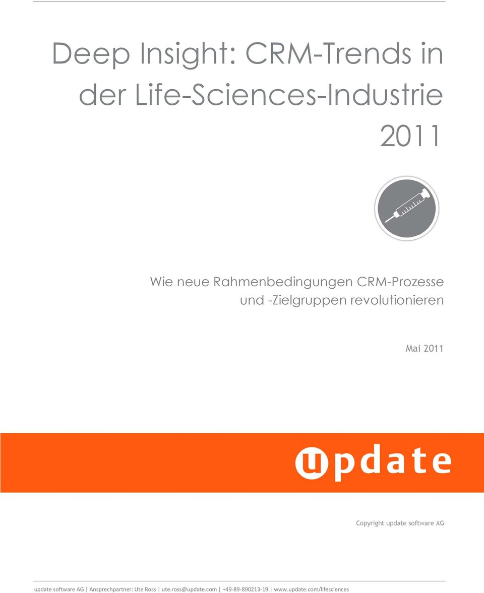 2011 Copyright update software AG update software AG Ansprechpartner: