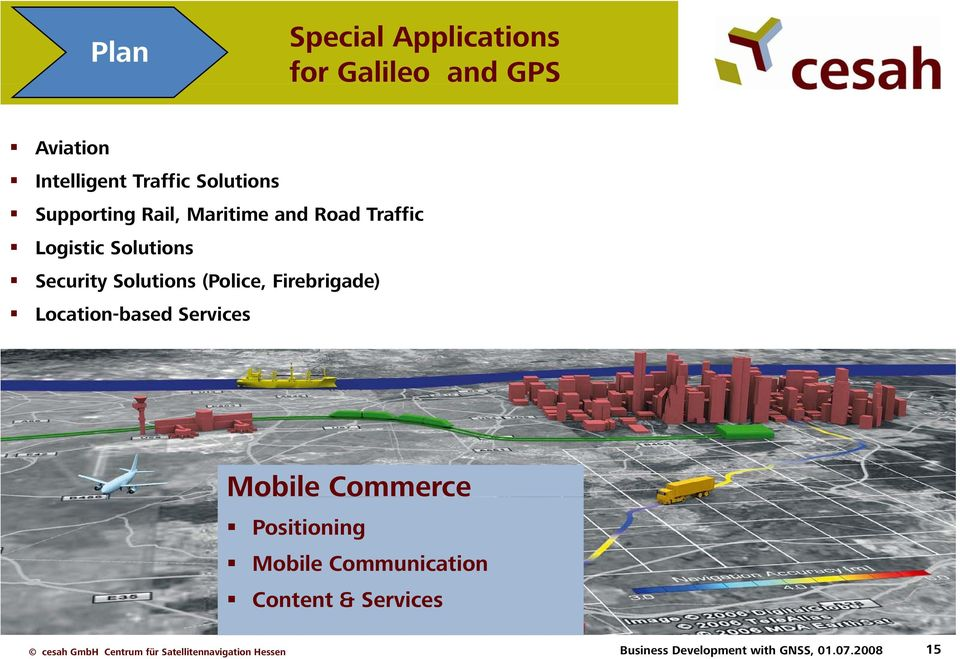 Solutions (Police, Firebrigade) Location-based Services Mobile Commerce