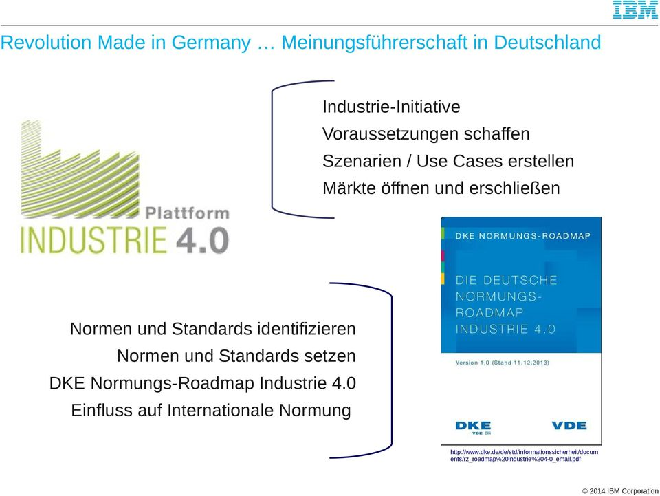 identifizieren Normen und Standards setzen DKE Normungs-Roadmap Industrie 4.