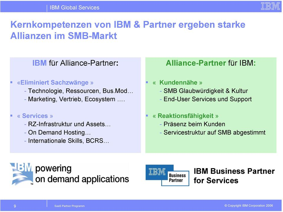 «Services» - RZ-Infrastruktur und Assets - On Demand Hosting - Internationale Skills, BCRS «Kundennähe» - SMB