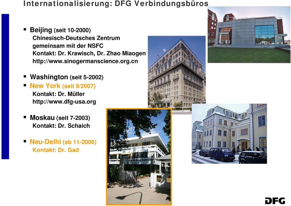sinogermanscience.org.cn Washington (seit 5-2002) New York (seit 9/2007) Kontakt: Dr.
