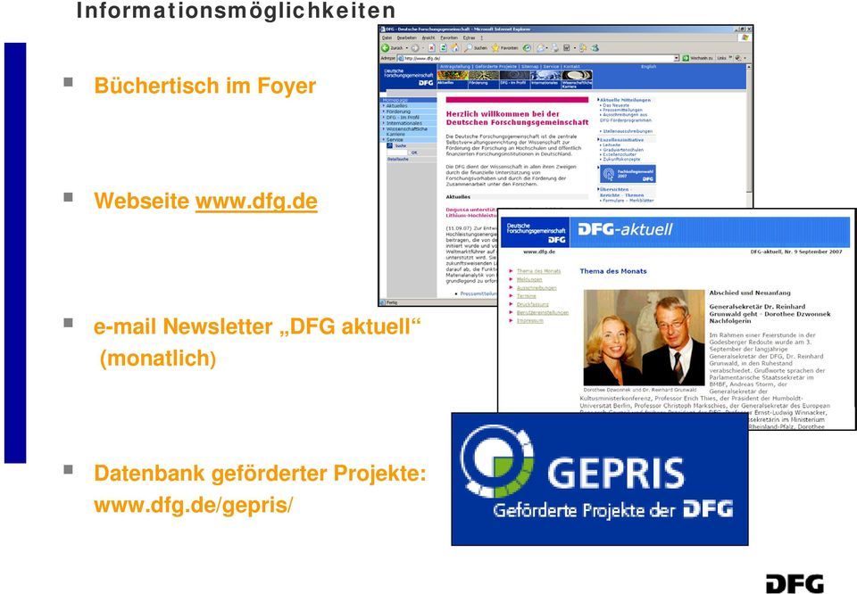de e-mail Newsletter DFG aktuell