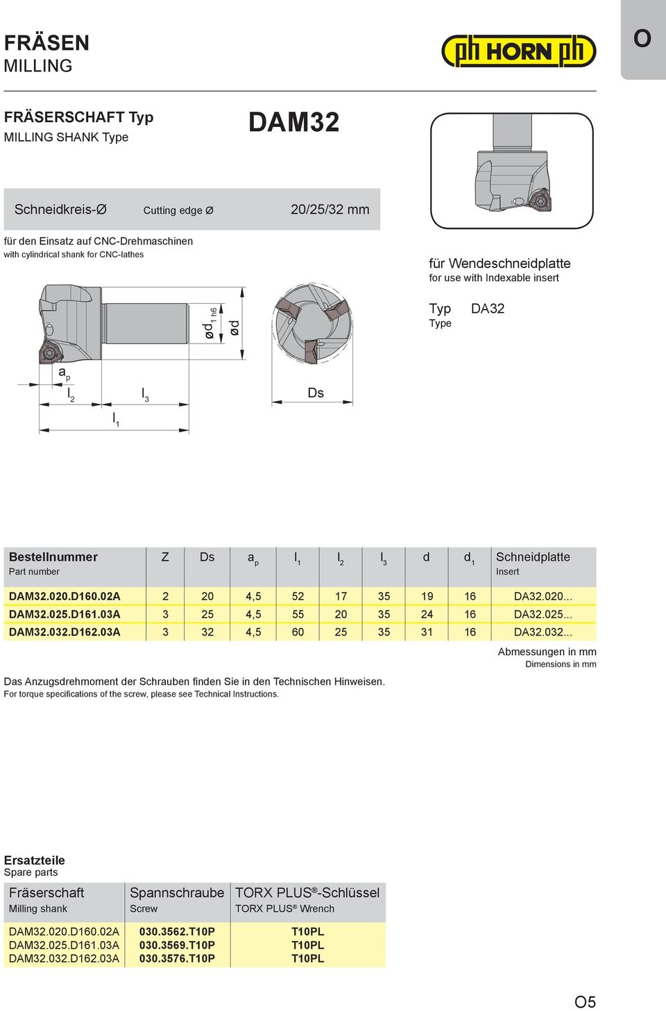03A 3 32 4,5 60 25 35 31 16.032... Das Anzugsdrehmoment der Schrauben finden Sie in den Technischen Hinweisen. For torque specifications of the screw, please see Technical Instructions.