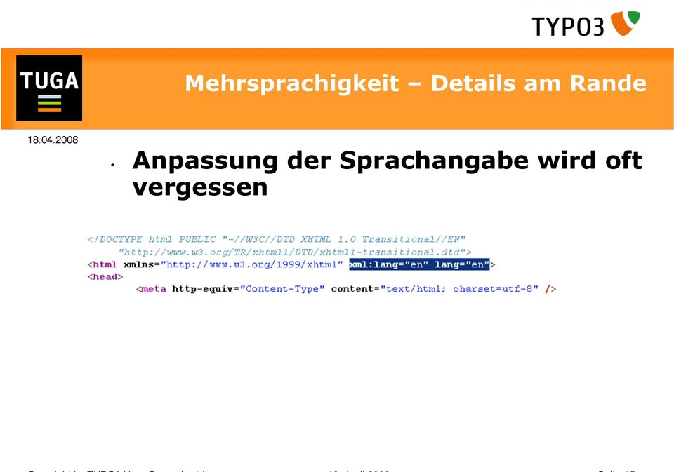 vergessen Copyright by TYPO3 User