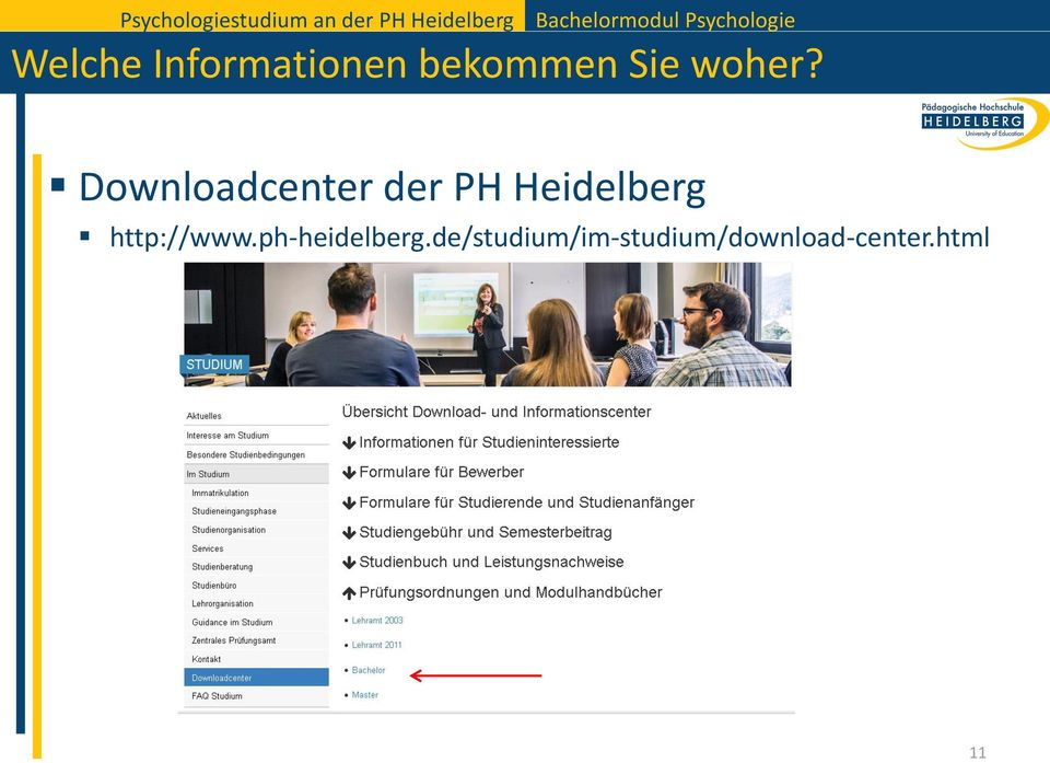 Downloadcenter der PH Heidelberg