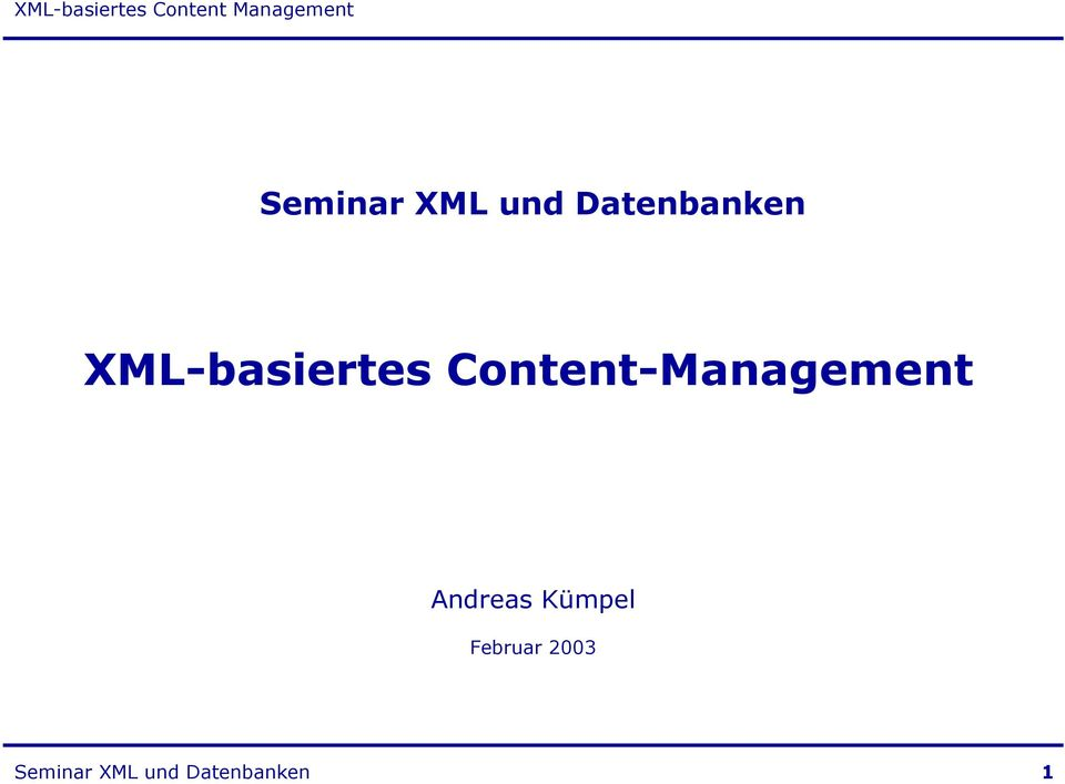 Content-Management Andreas