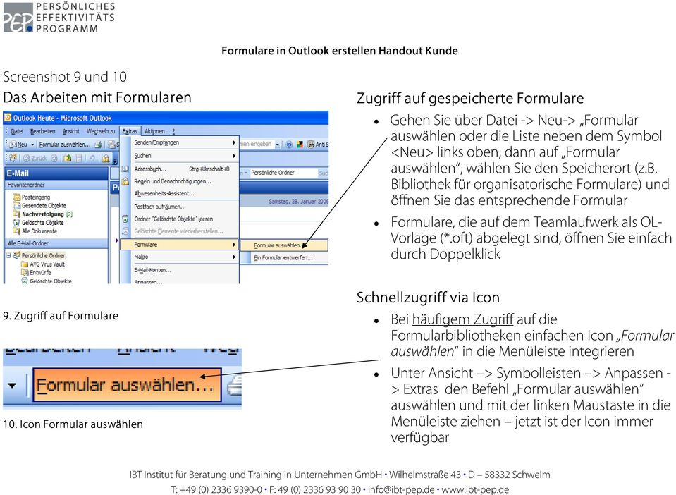 Formulare in Outlook erstellen Handout Kunde - PDF