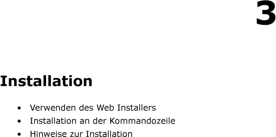 Installation an der