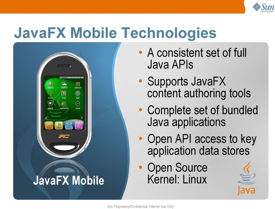 bundled Java applications Open API access to key application data