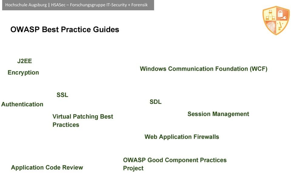 Patching Best Practices SDL Session Management Web