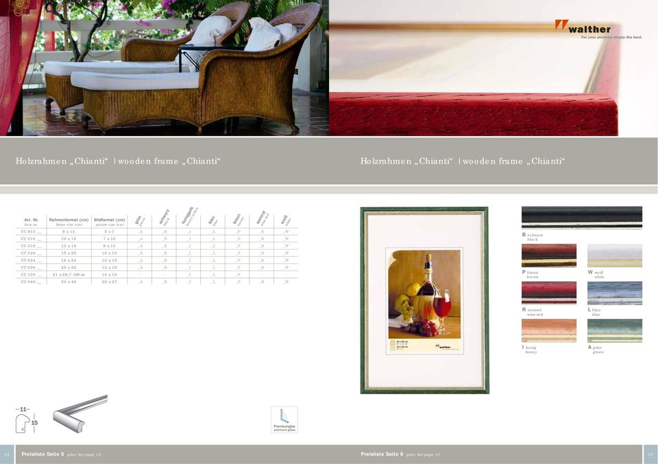 CC 130 21 x 29,7 DIN A4 13 x 18 - - _I _L _P - - CC 040 30 x 40 20 x 27 _A _B _I _L _P _R _W schwarz honiggelb honey yellow blau blue braun brown weinrot wine-red weiß white