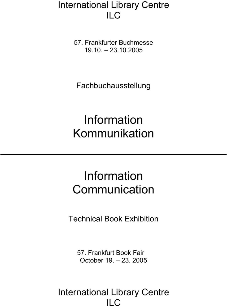 Information Communication Technical Book Exhibition 57.
