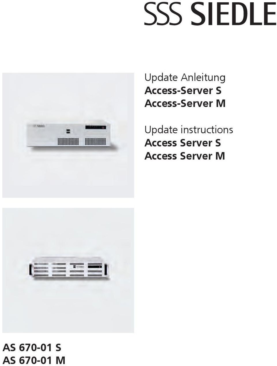 instructions Access Server S