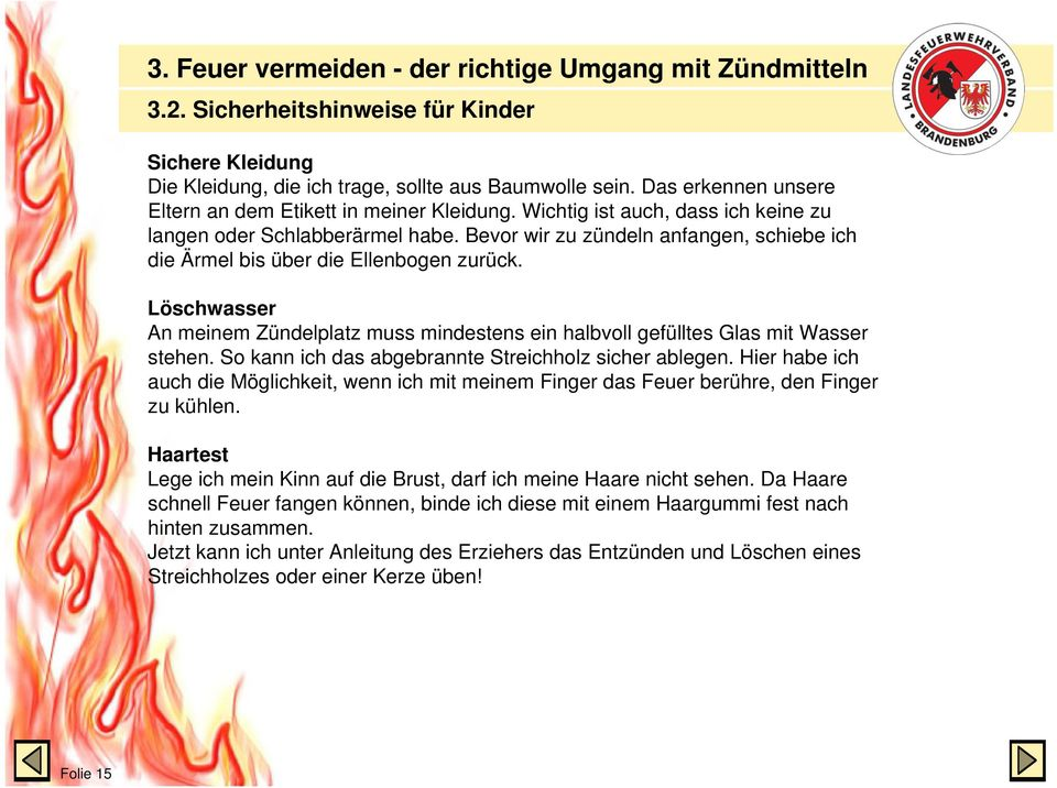 feuerwehr land brandenburg brandschutzerziehung folie 1 pdf. Black Bedroom Furniture Sets. Home Design Ideas