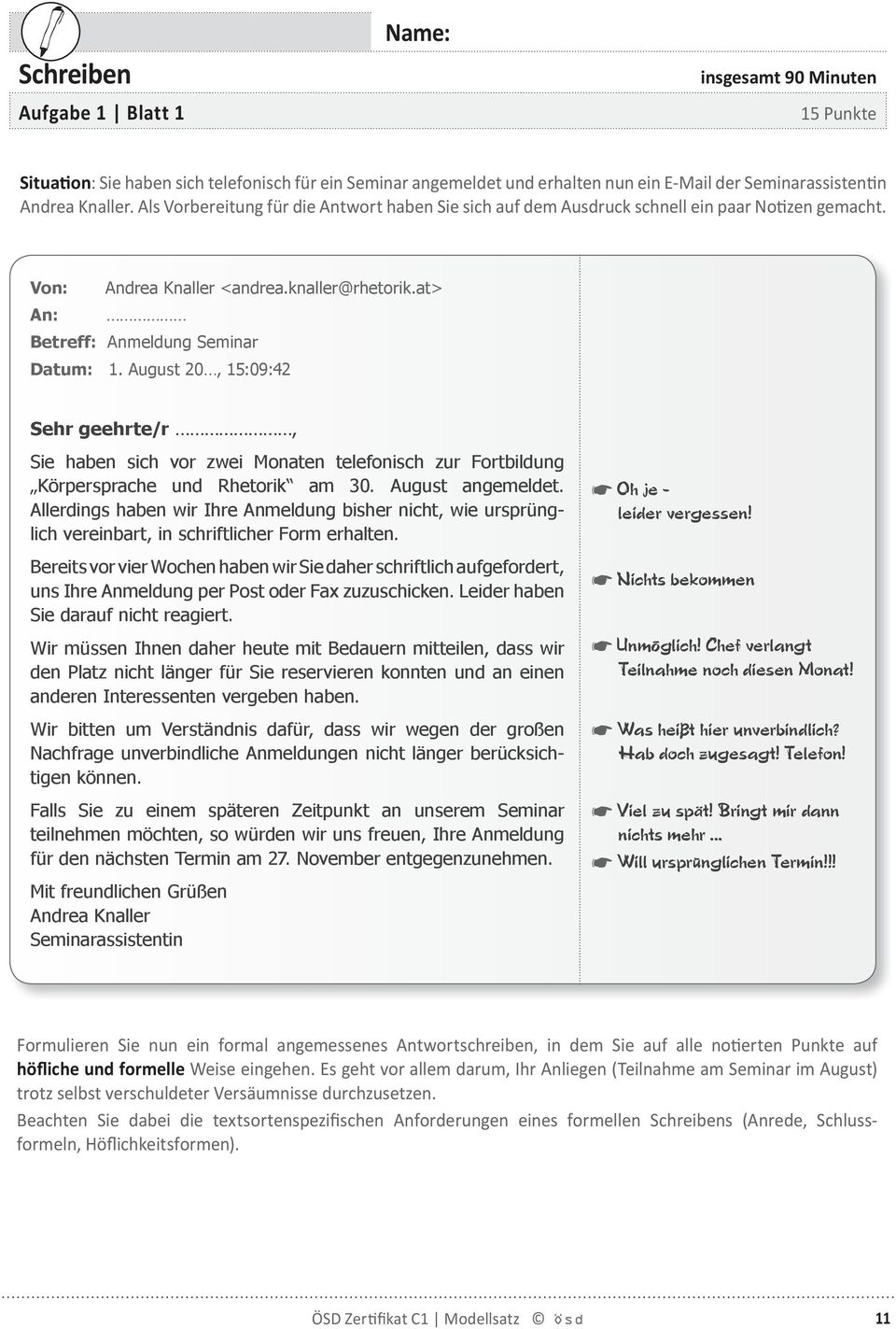formelle email anfang