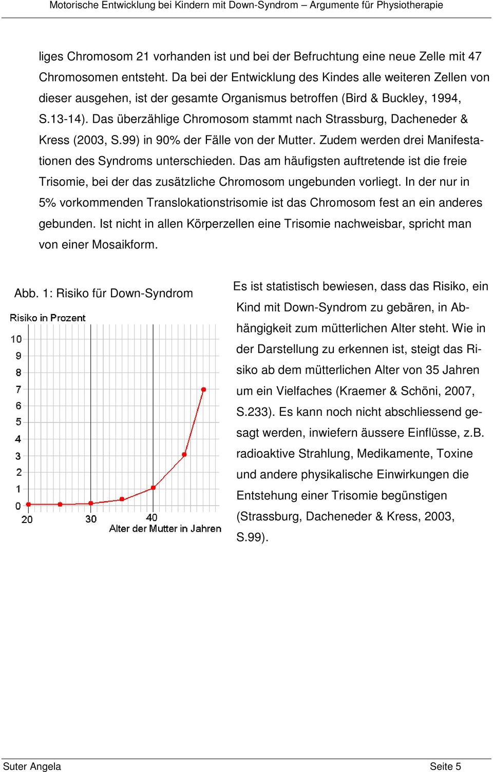 entwicklung down syndrom