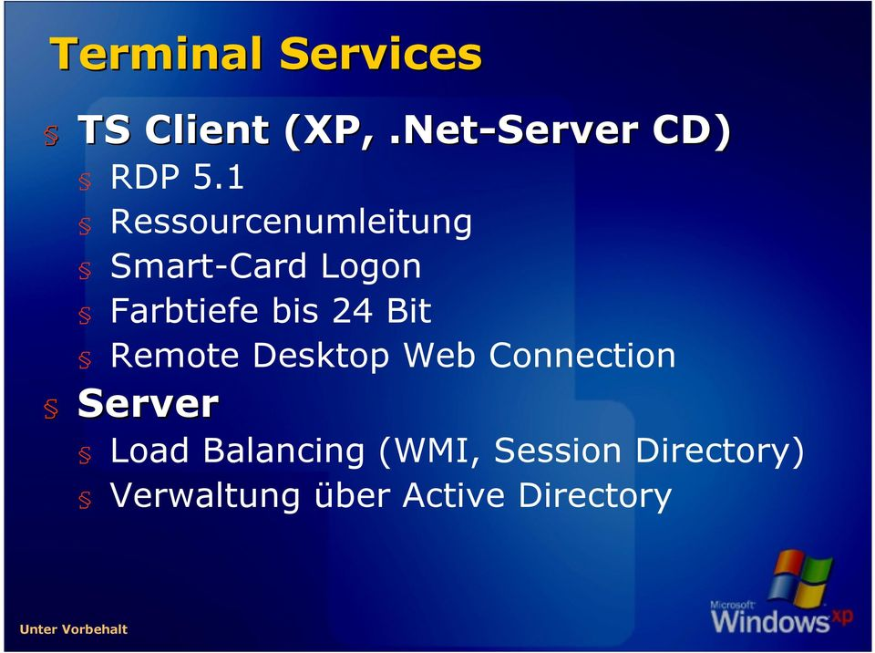 Remote Desktop Web Connection Server Load Balancing (WMI,