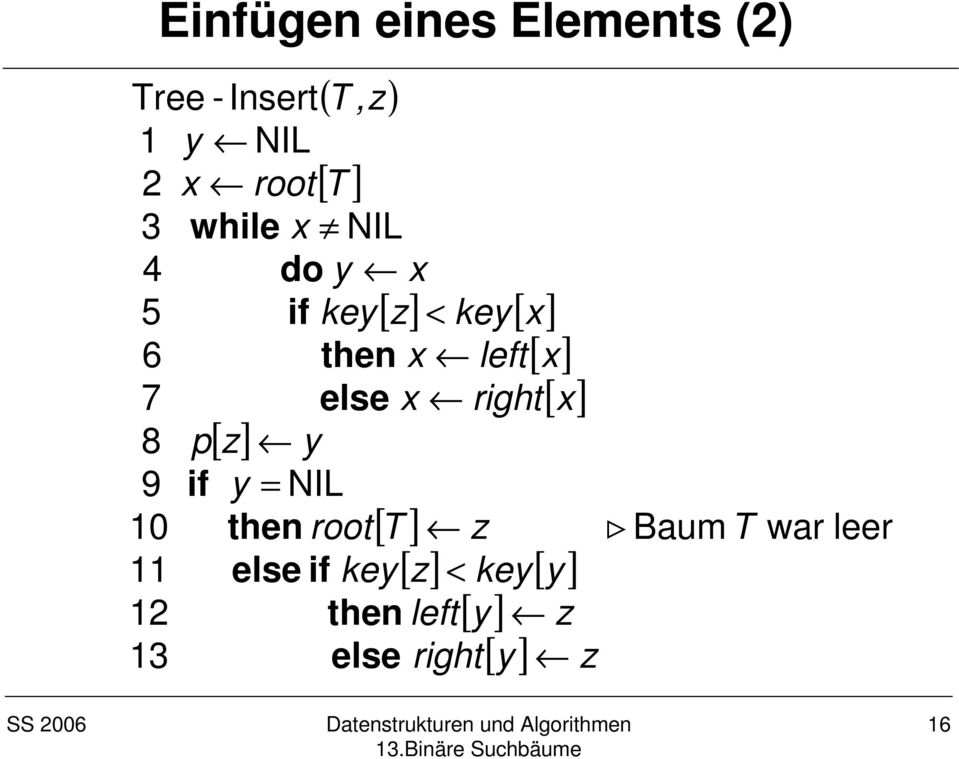 then root 11 else if key 12 then 1 else [ z] < key[ x] x left[ x] x