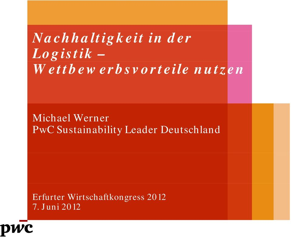 Werner PwC Sustainability Leader