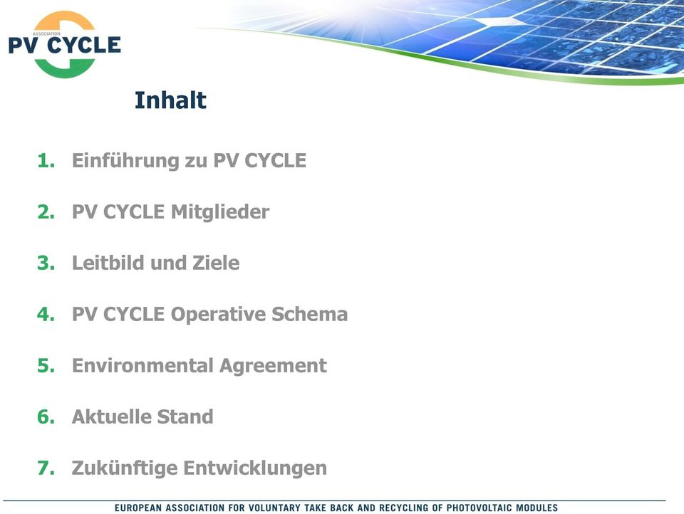 PV CYCLE Operative Schema 5.